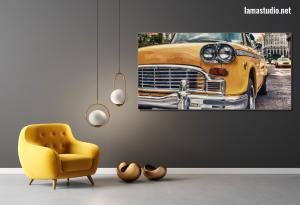 Slika na canvas platnu žuti taxi